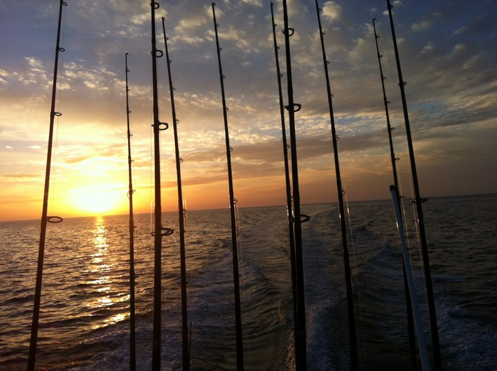 fishing-rods-at-sunset